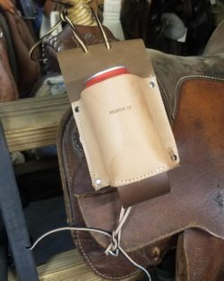 leather drink holster